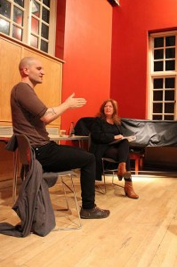 Chine Mieville speaking to Suzanne Moore at Sutton House