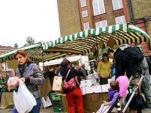 Shoppers at Stoke Newington's Organic Farmer's Market