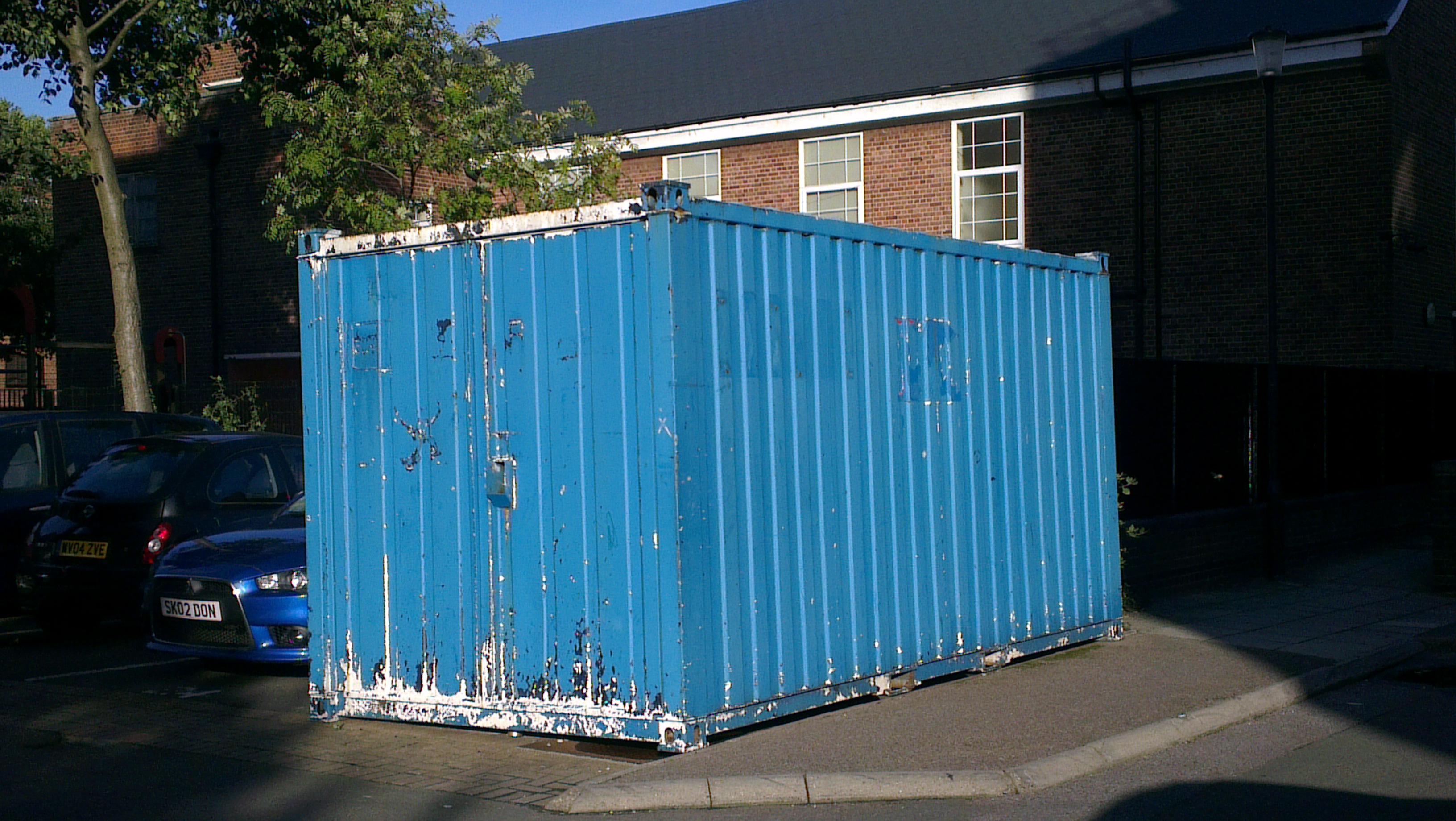 The blue box in Wrens Park estate mystifies locals