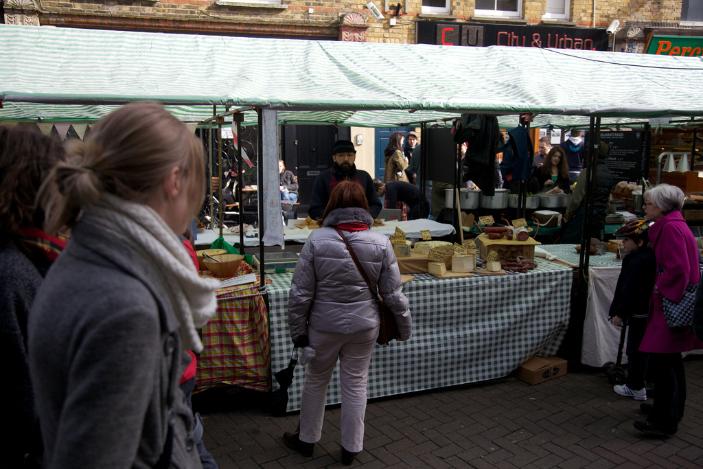 A stall on Broadway Market