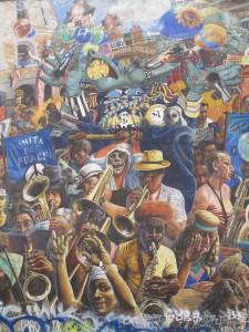 Dalston mural, Hackney peace carnival