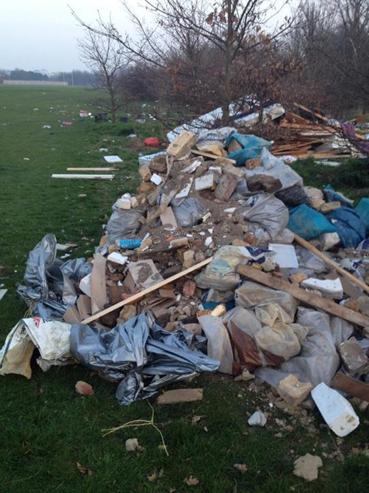 Fly tipping Lea Marshes