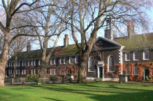 The exterior of Geffrye Museum in Hackney