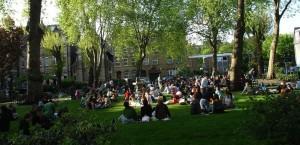 Hoxton square sunshine