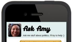 A screenshot of the Ask Amy app.