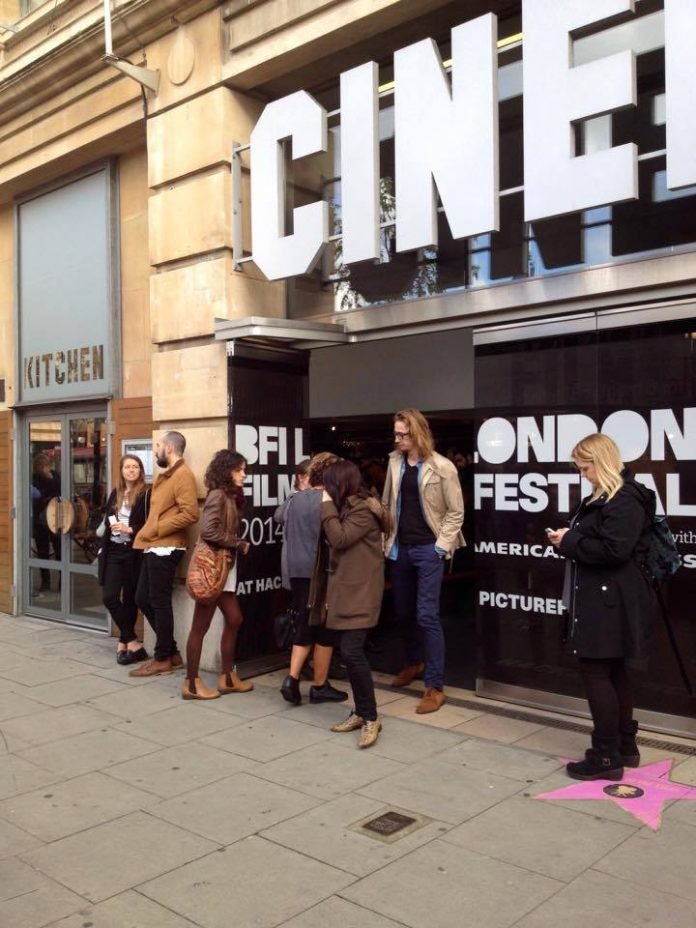 An image of the queues outside Hackney Picturehouse.