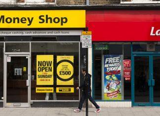 High street cash loan shop