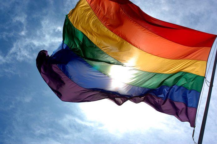 An image of the LGBT rainbow flag.
