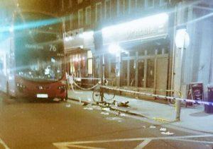 Crime scene/Kingsland Road