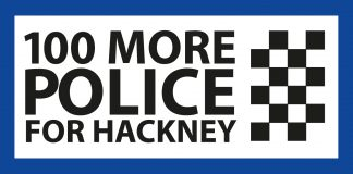 Logo for Hackney Council petition for 100 more officers (Credit: Hackney Council)