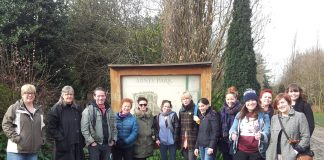 A Heroines of Hackney tour group