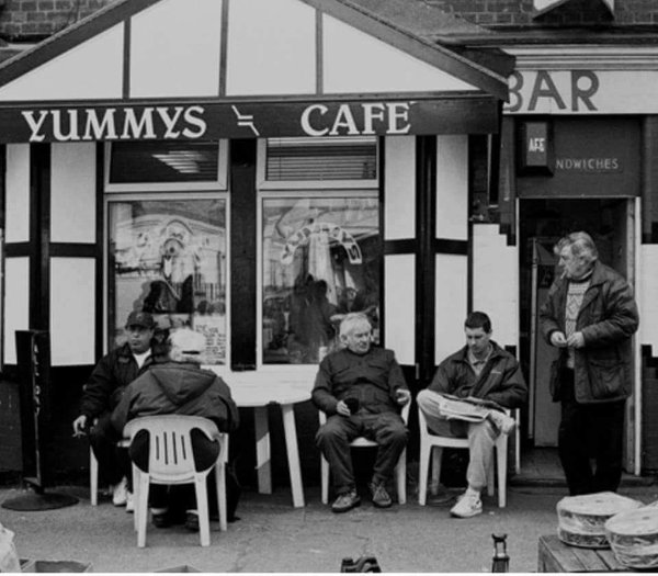 Yummy's cafe when it first opened no Kray twins in sight