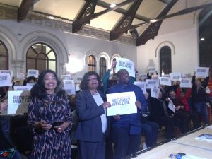 Diane Abbott and speakers say refugees are welcome here