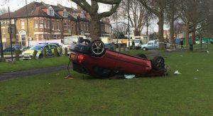 clapton common car crash