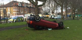 clapton common car crash
