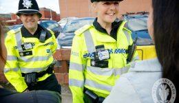 Police wear ody-worn cameras