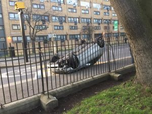 Clissold Park car crash