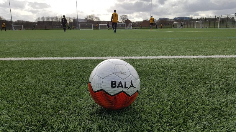 Ethically sourced football provided by Bala