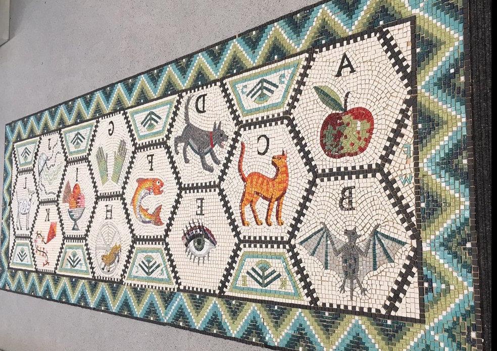 Hackney Mosaic Project offers sneak peak of work in progress alphabet ...