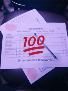 Scorecard for Funny Women night