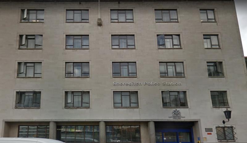 Shoreditch police station Google street view