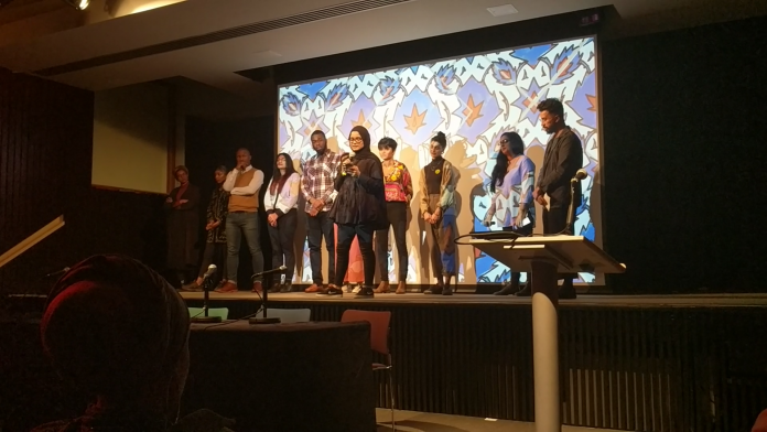 A charity for young Muslims hosted an evening of poetry, film and discussion last night to celebrate a report on the place of Muslims in British society.