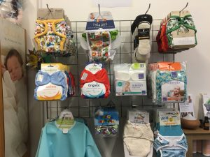 The wide range of the colourful and environmentally friendly nappies available